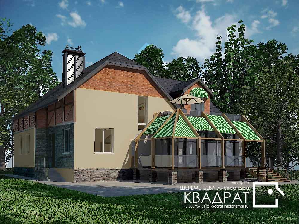 Дом 350 м.кв. в Московской